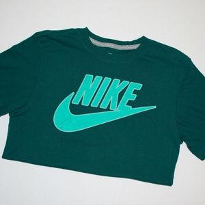 Nike Blue Green Sportswear T-Shirt - S